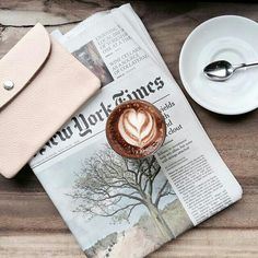 Morning with coffee and newspaper