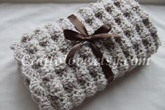 Crochet baby blanket - Baby Boy Blanket and Baby Girl Blanket Natural Oatmeal Puffy Stroller/Travel/Car seat on Etsy, $36.99