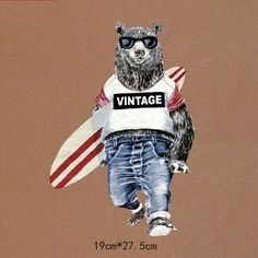 Cheap iron on patches, Buy Quality iron on directly from China patch iron on Suppliers: 2 size Cartoon animal bear Painted Iron On Patches Heat Transfer Stickers For Clothing A-level Washable Heat Press Appliqued
