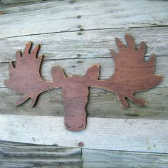 Rustic Moose Wooden Sign Lodge Lake Wall Decor by SlippinSouthern, $89.00