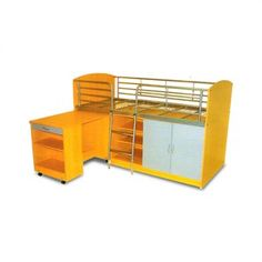 Combo Single Study Bunk Bed Space Saver