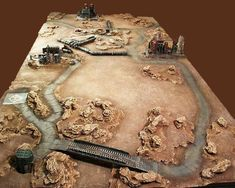 Pic only, idea desert terrain table Warhammer 40k Tabletop, Warhammer Terrain, 40k Terrain, Game Terrain, Wargaming Table, Wargaming Terrain, Figurine Warhammer, Tabletop Games, Decoration