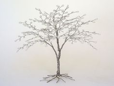 Beaded Wire Tree Sculpture Wedding Cake Topper Pearls and Silver - Ready to Ship. $48.50, via Etsy.