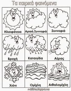 Weather Symbols by Scholastic Weather Symbols For Kids, Weather Report For Kids, Weather Unit, K Crafts, Science Crafts, Preschool Crafts, Seasons Activities, Weather Activities, Weather Worksheets
