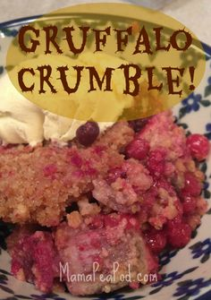 Gruffalo crumble recipe! So quick and easy, the kids can make it! Perfect weeknight dessert :-)    http://www.mamapeapod.com/2013/03/gruffalo-crumble-recipe.html