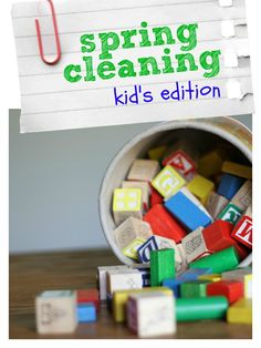 Spring Cleaning:  Kid's Edition (Day 1)!  Get your kid's stuff in order!