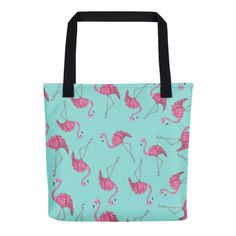 Excited to share the latest addition to my #etsy shop: Flamingo bag, pink flamingo bags, flamingo gift bag, printed tote bag, pink flamingo, printed tote, pink flamingo gift, tote bag gift, bags