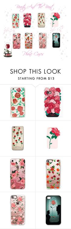 """""""♡ Ariana Grande Beauty And The Beast Inspired Phone Cases ♡"""" by kaylalovesowls ❤ liked on Polyvore featuring Skinnydip, Kate Spade, Casetify and CO"""