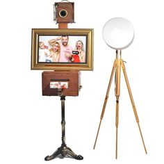 Viste Booth - Vintage Photo Booth with Monitor and CITIZEN Printer - Photobooth Printers Vintage Photo Booths, Vintage Photos, Photo Booth Printer, Professional Photo Printer, Photography Themes, Vintage Theme, Premium Wordpress Themes, Tripod Lamp, Leather Interior