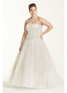 f82f00c2d2d Plus Size Oleg Cassini Satin and Organza Wedding Dress Style