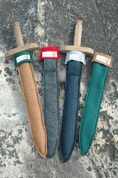 One idea for sword sheath/holster-craft -Ecofelt Wooden Sword Sheath - Choose your colors. $12.00, via Etsy.
