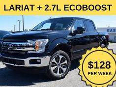 """Stock # 07.18 - 9F2109  Cash Price: $44,499.00  MSRP: $61,149.00  $0 down, 4x4 Lariat, 20"""" alum wheels, voice activated navigation, trailer tow package, leather bucket seats and more.  Lease @ $128/Week.  *Cash price and weekly price mentioned in this ad includes $1,000 Conquest/Loyalty Bonus. To quality for this, customer needs to trade in existing vehicle or bring their leased vehicle back. For unqualified customer; cash price is $45,499 and weekly price is $133. Ford Employee, 20 Wheels, Car Deals, 2019 Ford, Bucket Seats, Ontario, 4x4, Best Deals, Vehicles"""