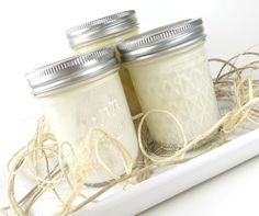 Soy Mason Jar Candles  Tropical Fragrances by curiouscarrie