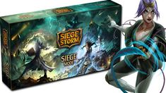 SiegeStorm: The SiegeMode on Kickstarter! Customizatable dynamic card game with tons of deck possibilities and combos. Fast to learn, dynamic but deeply strategic.
