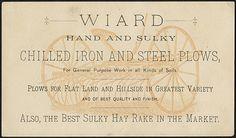 Rev of Wiard Plow trade card