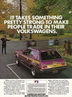 The Legendary Gremlin! Vintage Ad #1,473: Ready to Trade in Your VW? by jbcurio, via Flickr