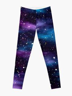 'Starry Sky Galaxy' Leggings by HavenDesign Galaxy Pants, Galaxy Outfit, Galaxy Hoodie, Galaxy Leggings, Space Leggings, Kids Outfits, Cool Outfits, Hair Jewels, Cute Disney Wallpaper