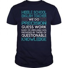 Awesome Tee For Middle School English Teacher T-Shirts, Hoodies, Sweatshirts, Tee Shirts (22.99$ ==> Shopping Now!)