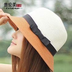New 2014 summer  beach sun hat jazz summer hats for women fashion brand straw hat cap vintage lady Bow floppy  Hat  $6,30