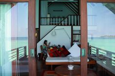 By far one of the best places I've ever stayed at. A two story loft on silts above the crystal clear waters of the Maldives. Simple elegancy without ostentatious luxury.