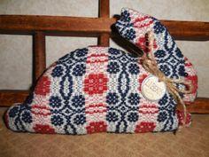 Primitive Patriotic  Bunny Rabbit Pillow Tuck by auntiemeowsprims, $12.99