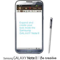 Samsung GALAXY Note II ❤ liked on Polyvore