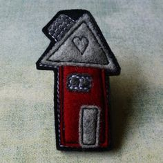 eclectic me blog: wool felt brooches - the house series by Gillian Hamilton