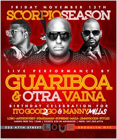 Scorpio Season @ Love NY Friday November 13, 2015 « Bomb Parties – Club Events and Parties – NYC Nightlife Promotions