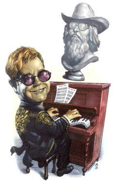 CARICATURE  Elton John