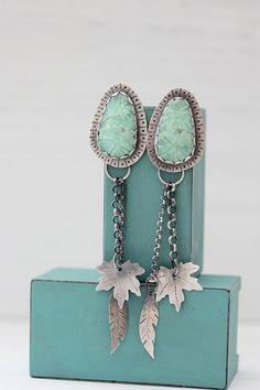 Silver Amazonite Earrings  Sterling Silver by littlecherryhill, $130.00