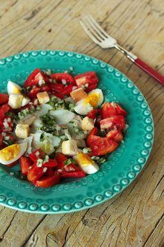 Cinco Quartos de Laranja: Salada de bacalhau com tomate