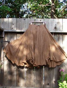 Romantische böhmischen Rock / Skirt braun Baumwolle von KheGreen
