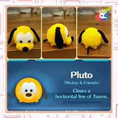 This pattern is available only in English language. For those who love cute things, Tsum Tsum Pluto amigurumi is at the perfect size to hold on your palm or attach on your bag to be your traveling companion. Format: PDF document of 8 pages with detailed instructions. Finished size: