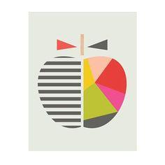 affiche Geometric apple l.30xH.40 cm