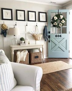5 Ways to Add Modern Farmhouse Style to Your Home Modern Farmhouse Living Room Add Entryway Farmhouse Home Modern Style Ways Easy Home Decor, Farm House Living Room, Interior, Farmhouse Sofa Table, Home Decor, House Interior, Living Decor, Farmhouse Sofa, Rustic House