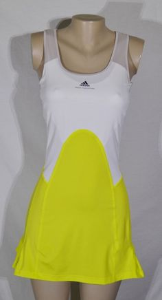 A cute look for the courts!  ADIDAS STELLA MCCARTNEY Yellow/White/Beige Barricade Tennis Dress 40 US Medium  US $55.99 Pre-owned in Clothing, Shoes & Accessories, Women's Clothing, Athletic Apparel