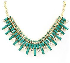 Turquoise Baguette Necklace