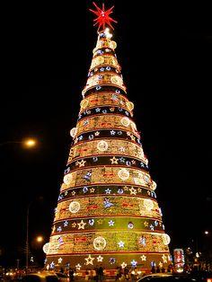 Christmas Tree in Parque do Ibirapuera, São Paulo, Brazil