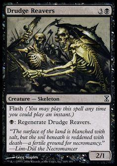Drudge Reavers - Creature - Skeleton - Skull - Black - Time Spiral - Magic The Gathering Trading Card