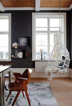 Качели вместо кресел - EnjoyHome - блог студии дизайна интерьеров