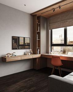 Study Room Design, Room Design Bedroom, Home Room Design, Kids Room Design, Home Office Design, Home Office Decor, Modern Bedroom, Home Interior Design, House Design