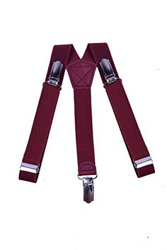 JIERKU Boys Suspenders for Kids Button Braces Baby Suspenders Outfit Fuchsia -- Additional details @