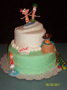 Phineas and Ferb! Swinter cake