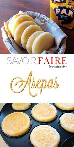 This the traditional Venezuelan arepas recipe. Arepas are made with pre cooked corn flour (arepa flour). They can be eaten with ham, cheese, meat, chicken and tuna salad.