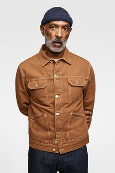 TEXTURED WEAVE JACKET WITH TOPSTITCHING Zara, Jackets, Men, Blouson, Weave,  Riders d270f028696