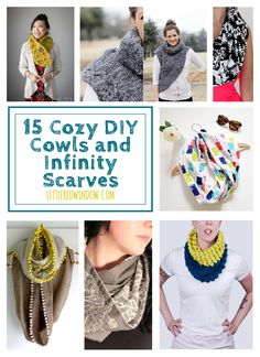 15 Cozy Cowls and Infinity Scarves to DIY | littleredwindow.com