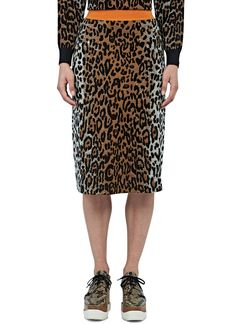 Women's Skirts - Clothing | Order Now at LN-CC - A-Line Leopard Print Knit Skirt