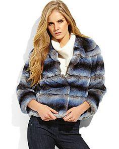 GLAMOURPUSS NYC Real Rabbit Fur Jacket