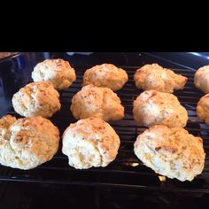 Carbquick Cheddar Bay Biscuits (low-carb version of Red Lobster's biscuits) yummy!!!!