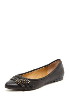 Looks very comfy.  Miz Mooz Weyland Pointed Buckle Flat by Feet-Friendly Flats on @HauteLook